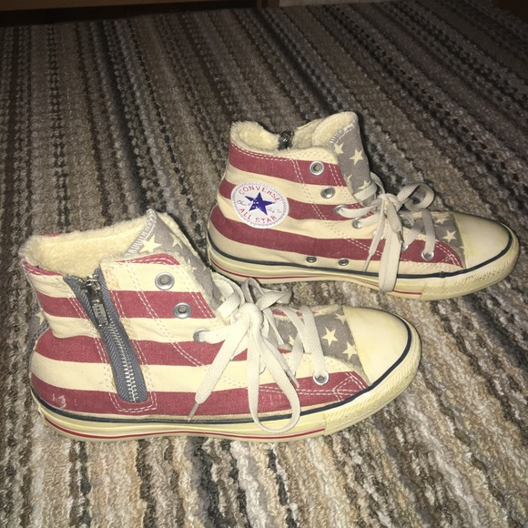 94fb8d55eaa7 Converse Shoes - Distressed American Flag Converse